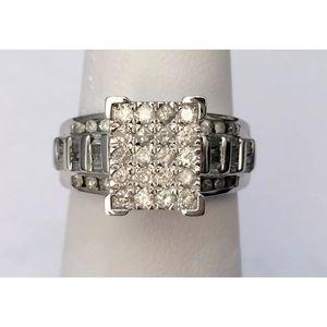 Jewelry - 1 carat 10k white gold diamond Cinderella ring